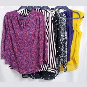 Lot of 6 Career Style Blouses size MEDIUM Spring